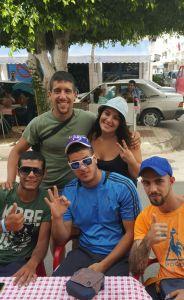 Luca, el de la IZQ. si, tiene pinta de italiano lo sé. Con un par de amigos mios de Melilla.