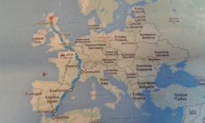 Ruta guía de IDA a Escocia,.